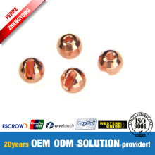 Wholesale Tungsten Disco Beads with Slotted Hole