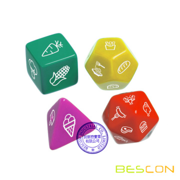 Custom Multi-sides Dice Set of Dinner Dice