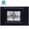 Fangda Oberfläche blau 4 lite Glas lackiert zeitgenössische Sicherheitstüren