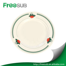 "Customed 8"" flower sublimation plates blanks"