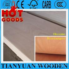China madera contrachapada comercial de Okoume de 1220 * 2440m m
