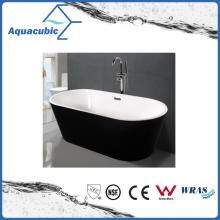 Black Surround Oval Free-Standing Acrylic Bathtub (AB1507B)