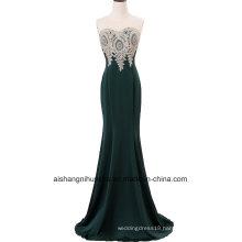 Handmade Appliqué S Evening Dress Sleeveless Elegant Formal Dress