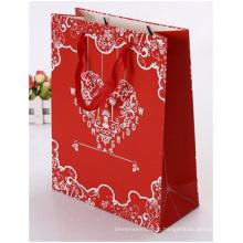 Sacos de compras promocionais impressos para presentes, porta-cosméticos, impressos à mão e recicláveis