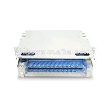 24 port odf 2U 19inch fiber optic distribution frame / fiber terminal box 24 port ODF with sc st connector