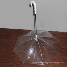 Forma especial do guarda-chuva transparente do cão de animal de estimação do PVC