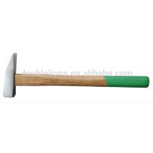 martelo forjado maquinista, martelo com punho de madeira de marcenaria