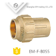 EM-F-B055 Spain Straight Single compression joint brass pipe fitting
