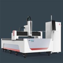 Découpe au laser à fibre cnc en acier au carbone / aluminium 3015