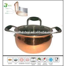 3 Ply Apple Shape Copper Soup Pot