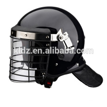 Reinforced Anti riot helmet with artificial leather neck protector