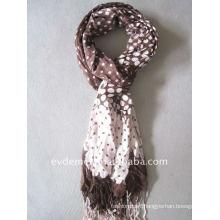 lady viscose print polka dot scarf shawl