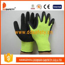 Black Latex Coated Crinkle Finished Working Glove Dnl414