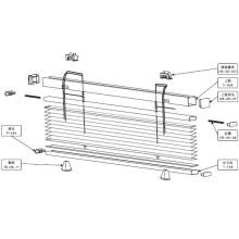 2.5cm up et Down plissé stores pour Windows (HB-05)