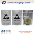 custom made cheap wholesale printed clear silver aluminum plastic foil bag