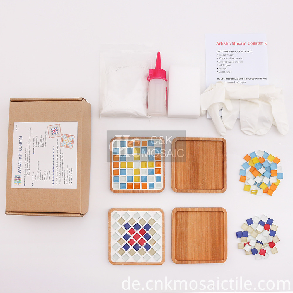 Square Coaster Glass Mosaic Kit