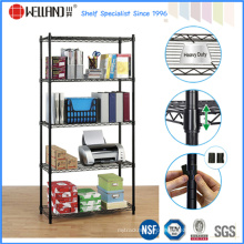 Black 5 Tiers ajustável Metal Wire Office Rack