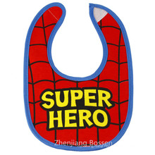 Customized Boys Printed Cotton Jersey Two Layersbibs with Snaps Waterproof Absorbent Drooler Bibs