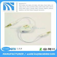 3,5 мм стерео мужчины к мужчине Выдвижной аудио кабель адаптера для MP3 IPod iPhone