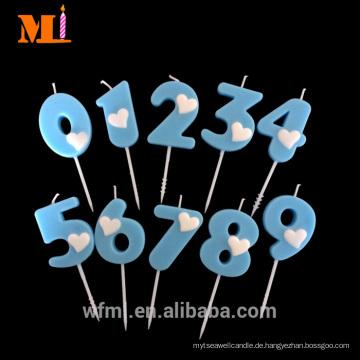 In Zeit Versand Kuchen Dekoration Hellblau Jumbo Anzahl Kuchen Kerze