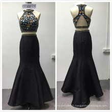 2018 conceptions de luxe 2pcs luxe robe de soirée sirène perlée lourde