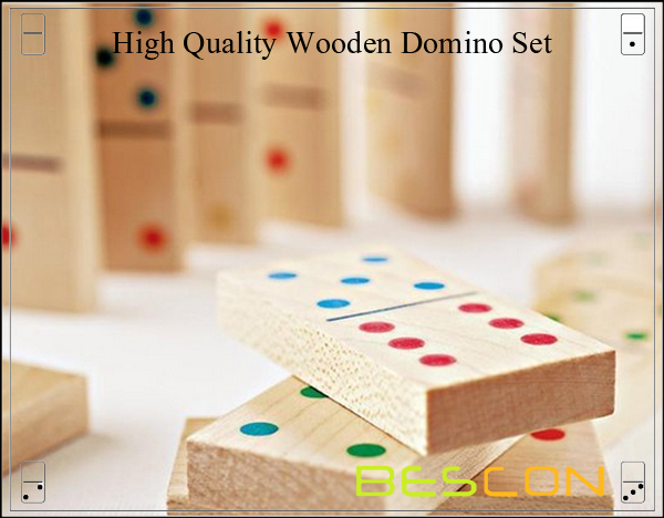 High Quality Wooden Domino Set-3
