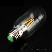 Lumière d'ampoule de filament de 4W T45 Edison LED de haute qualité