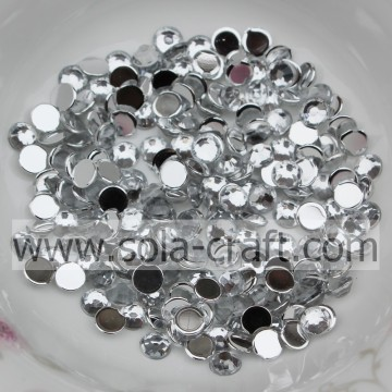 Wholesale 2/3/4/5/6 MM Acrylic Half Round Diamond Beads