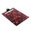 Acrylic Clipboard Tortoise Pattern