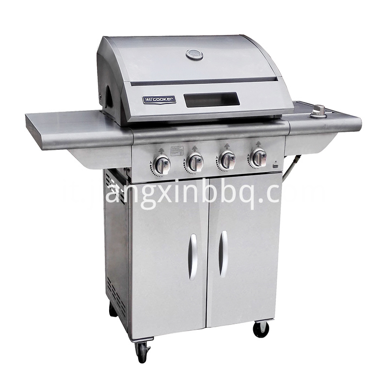 4 1 Burner Stainless Steel Gas Grill