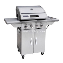 4-pits RVS Nature Gas BBQ Grill