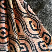 Schwere Jacquard-Samt-Stoffrolle aus 100% Polyester