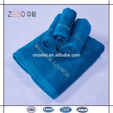 Alta qualidade 16s cor sólida promocional toalha de praia algodão toalha de hotel conjuntos em Guangzhou