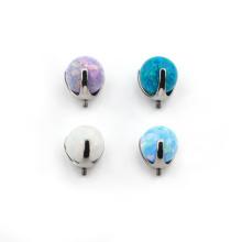 ASTM F136 Titanium Prong Set Opal Ball Micro Dermal Anchor Top Body Jewelry