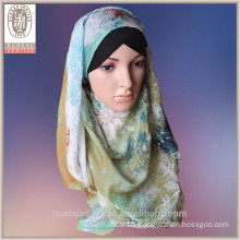 2015 pure silk Snowflake design muslim wholesale hijab