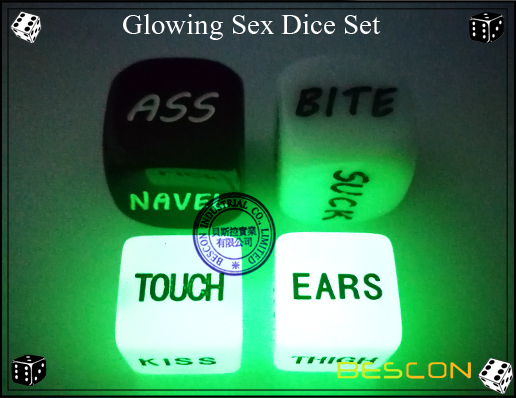 Glowing Sex Dice Set