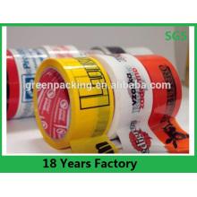 La publicité de logo de marque a imprimé la bande faite sur commande de bande d'emballage faite sur commande de BOPP