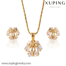 62654-Xuping 18K Gold Plated Fine Jewelry Elegant Crystal Jewelry Set