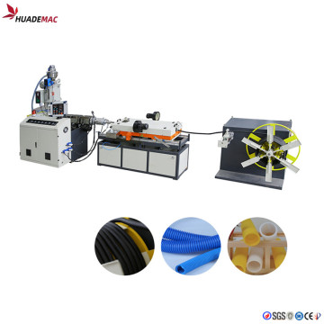 PE single wall corrugated hose pipe production line