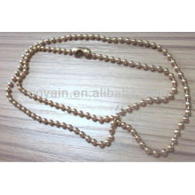 stainless steel jewelry gold plating ball chain necklace