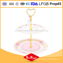 FDA and CA65 standards party embossment ceramic plate dessert cake fruit plate