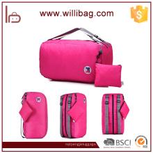 Hombro multifuncional y mochila Bolsa de almacenamiento plegable de viaje usado
