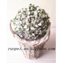 Yiwu factory suppiler white artificial Milan grass ball