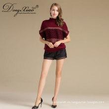 Lana Suéter de lana y lana merino con cuello redondo, tejido de lana, jersey, suéter coreano