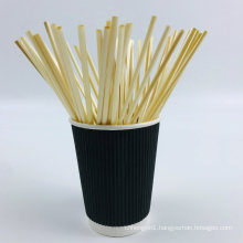 Natural Wheat Drinking Straws Biodegradable, Eco Disposable Straw for Hot Drinks