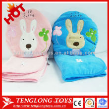 Cheapest OEM cartoon soft plush pillow blanket 2 in 1