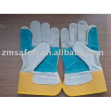 construction worker leather safety glove