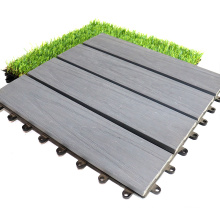 China Factory Directly Supply WPC Co-Extrusion Garden 30X30cm Wood Plastic Composite Interlocking Decking Tiles