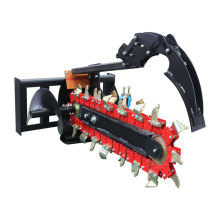 New Cheap Mini Skid Steer Loader Attachments Chainsaw Trencher for Ditching Planting