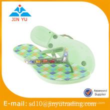 2016 China factory price latest style women PVC slipper flip flop